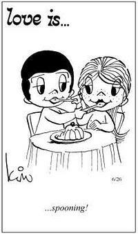 Любовь это  кормить друг друга