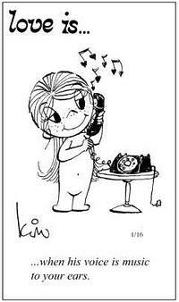 Любовь это  когда его голос музыка для твоих ушей