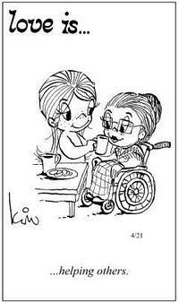 Любовь это  помогать другим