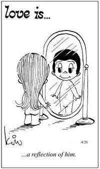 Любовь это  быть его отражением