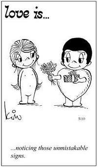 Любовь это  подавать недвусмысленные знаки