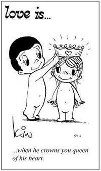 Любовь это  когда он делает вас королевой его сердца