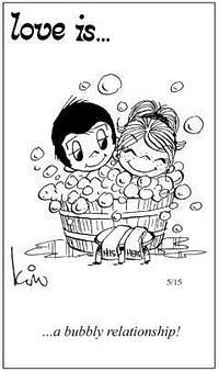 Любовь это  пузыристые (легкие?) отношения