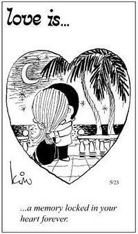 Любовь это  всегда помнить момент, когда сердца бились в унисон