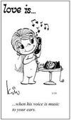 примеры картинок: Любовь это... когда его голос музыка для твоих ушей