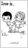 примеры картинок: Любовь это... штопка(м.б. имеется в виду налаживание отношений?)