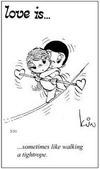 примеры картинок: Любовь это...временами похоже на балансирование на канате