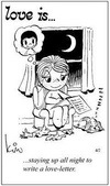 примеры картинок: Любовь это... не спать всю ночь и писать любовное письмо