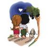 примеры картинок: Love is...walking the dog, together.