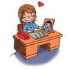 примеры картинок: Love is...having his picture on your desk and your love in his heart.