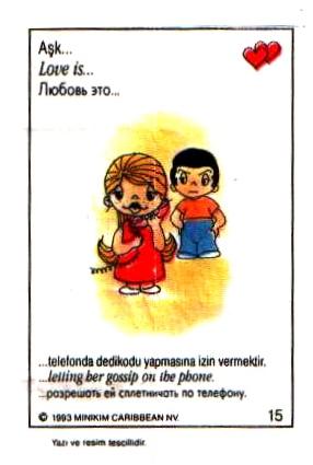 Любовь это  разрешить ей сплетничать по телефону (вкладыши 1993 года)