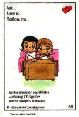 Любовь это  вместе смотреть телевизор (вкладыши 1993 года)