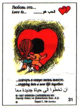 Любовь это  шагнуть в новую жизнь вместе (вкладыши - серия 7)