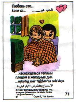 Любовь это  наслаждаться теплым пледом в холодные дни (вкладыши - серия 7)