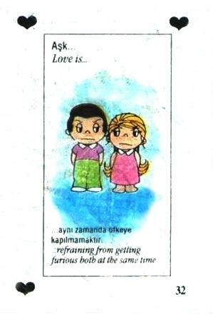 Любовь это  не ссорится, когда вы оба обижены