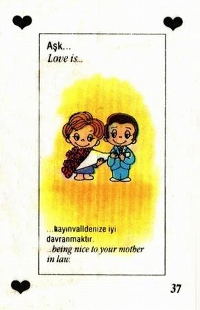 Любовь это  хорошо относиться к теще :D