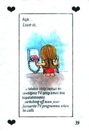Любовь это  выключить телевизор во время любимой передачи, когда он звонит по телефону