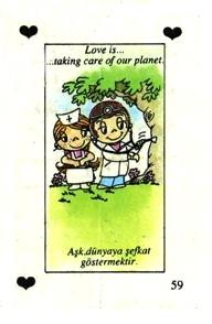 Любовь это  заботиться о своей планете