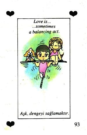 Любовь это  балансирование