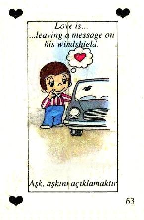 Любовь это  оставить сообщение на лобовом стекле ее машиныp.s. помой меня? ;)