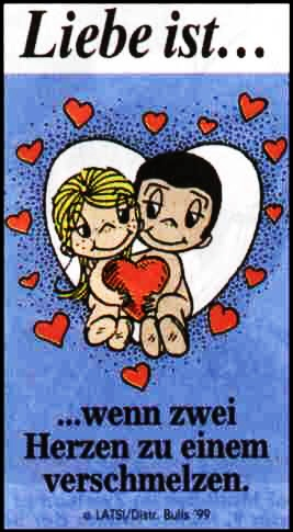 Liebe Ist wenn zwei Herzen zu einem verschmelzen