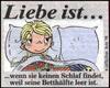 примеры картинок: Liebe Ist...wenn sie keinen Schlaf findet, weil seine Betthälfte leer ist