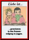 примеры картинок: Liebe Ist...gemeinsam in den Sonnen-aufgang zu joggen