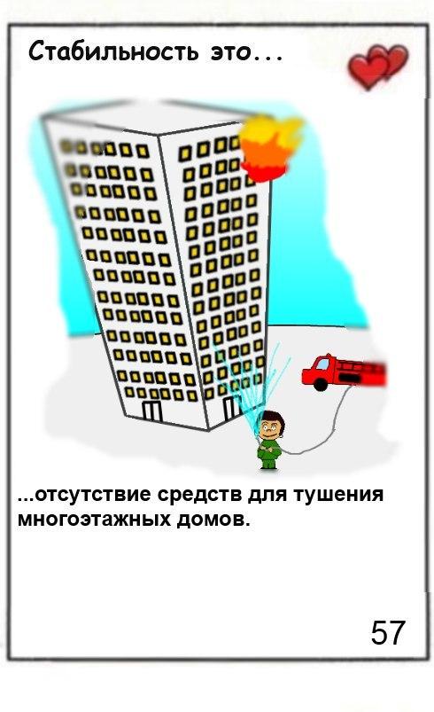 Стабильность это отсутствие средств для тушения многоэтажных домов (В Грозном сотрудники МЧС заявили об отсутствии спецтехники для тушения пожара в высотном комплексе)